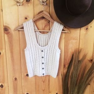 COPY - Vintage style button front sweater tank